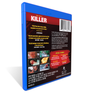 KILLER, Blu-ray, Tony Elwood, 8mm movie, horror films, thriller, serial killer, serial killers, Duke Ernsberger, Terry Loughlin, Dean Whitworth, Andy Boswell, Jeffery Pillars, Keith Liles, Mark Creter, Mark Kimray, 80's horror films