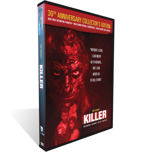 KILLER, DVD, Tony Elwood, 8mm movie, horror films, thriller, serial killer, serial killers, Duke Ernsberger, Terry Loughlin, Dean Whitworth, Andy Boswell, Jeffery Pillars, Keith Liles, Mark Creter, Mark Kimray, 80's horror films