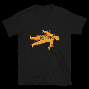 Tony Elwoods' Killer T-shirt, Killer T-Shirt, Killer, Tony Elwoods Killer, horror t-shirts, 80's Horror t-shirts