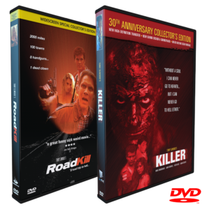 SansPerf DVDs, Killer DVD, Roadkill DVD, Tony Elwood's Killer, Tony Elwood's Roadkill